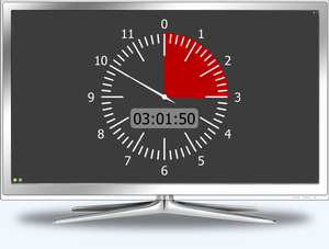 Fullscreen Analog Timer